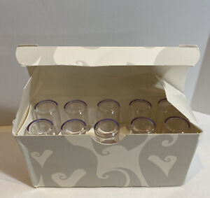 Mary Kay Signature Lipstick Caps Clear Plastic Acrylic LOT OF 10-NEW IN BOX!