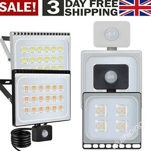 10-500W LED Floodlight PIR Sensor Motion Outdoor Garden Security Flood Light QW