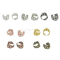 10pcs 18mm Adjustable Blank Finger Ring Bases Cabochon Settings Ring Trays