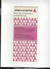 Mexicana Airlines April 29  1979   Timetable