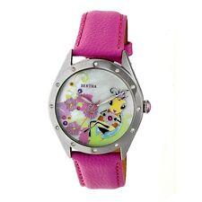 Bertha Ericka Women's MOP Queen Bee Crystal Pink Genuine Leather Watch BR7204