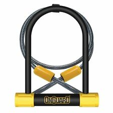 OnGuard Bike D U Lock Bulldog 8012 Shackle Lock & Cable Silver Sold Secure Cycle