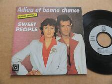 """DISQUE 45T DE SWEET PEOPLE  """" ADIEU ET BONNE CHANCE """""""