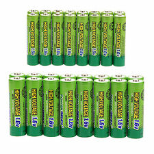 16pcs AA 2500mWh With 16pcs AAA 900mWh 1.6v NiZn Rechargeable Battery Batteries