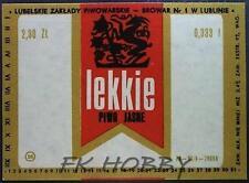 Poland Brewery Lublin Lekkie Beer Label Bieretikett Etiqueta Cerveza lu38.1
