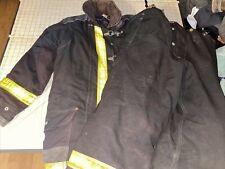 Janesville Lion Firemens Jacket Pants Lined Nomex Brown Turnout Bunker 1998