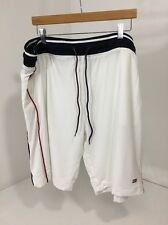 Tommy Hilfiger Men'S Mesh Basketball Shorts White/Navy/Red Xl Nwt $50