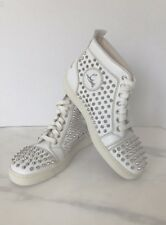 auth  CHRISTIAN LOUBOUTIN WOMEN'S LOUIS FLAT SPIKE leather SNEAKERS  38.5 8.5
