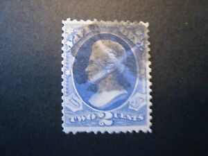 1873 US S# O36 2c ultra, Navy, hard paper Official Stamp Used