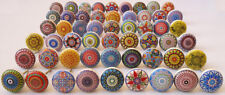20 Mix Assorted Vintage ceramic door knobs kitchen knob pull drawer cabinet