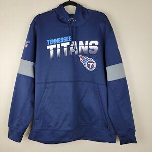 NFL XL Onfield Apparel Nike Dri-fit Blue Tennesse Titans Sweatshirt W/hoodie