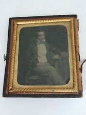 More details for victorian miniature tin-type,daguerreotype photo of a smart young gentleman
