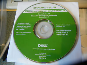 """RAM , with a Dell """""""" reinstall CD"""""""" for ,,,  windows XP pro  with SP2"""
