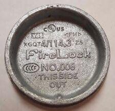 "FireLock No. 006, 4"" Pipe Cap, 4/114.3, 4-Inch, Fire Lock, tube plug"