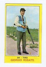 figurina PANINI CAMPIONI DELLO SPORT 1970-71 N. 341 TIRO ROSATTI