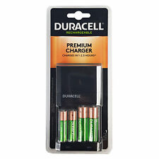 Duracell Ion Speed 4000 Battery Charger with 2 AA and 2 AAA Batteries