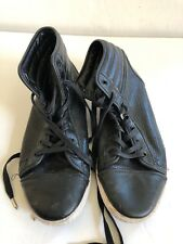 Sully Wong Men's Leather High Top Sneakers Size 10
