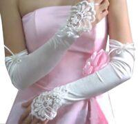 Gants de mariee dentelle ivoire longue sans Perles Fete de mariage 45 +/- 2 cm