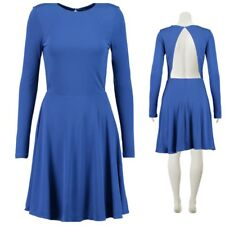 & Other Stories Royal Blue Occasion Dress Long Sleeves Open-Back Size 42