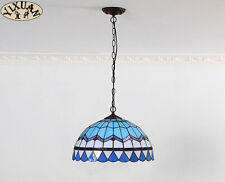 Tiffany Style Mediterranean Stainded Glass Shade Pendant E27 Light Ceiling Lamp