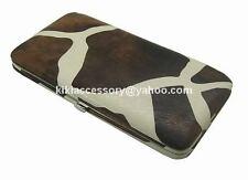 BROWN GIRAFFE FLAT OPERA WALLET CLUTCH CHECKBOOK LONG CREDIT CARD HOLDER GIFT