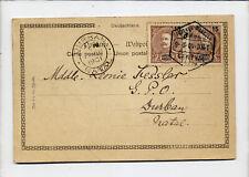 MOZAMBIQUELourenço Marques. Carte de 1901 pour DURBAN NATAL, Afrique du Sud, su
