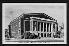 Columbia Township Auditorium Columbia South Carolina SC 1947 postcard