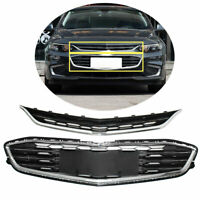 Honeycomb Mesh Grill Front Bumper Upper&Lower Grille For Chevy Malibu 2016-2018