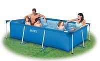 PISCINA RETTANGOLARE INTEX 28270 220x150x60 cm ideale in giardino o terrazza
