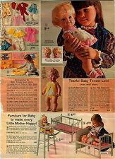 1972 ADVERT Mattel Baby Tender Love Cries Real Tears Dear One Ginny