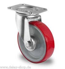 Transportrolle Lenkrolle 200 mm 350 kg Polyurethanbereifung Platte Rolle
