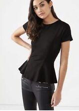 Black Burberry Prorsum peplum blouse top Size I 40 UK 8 US 4 S SMALL