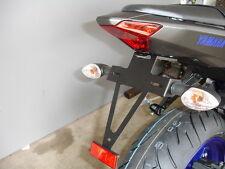 Kennzeichenhalter Yamaha MT07 mitLED Kennzeichenleuchte support d.plaque bracket