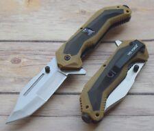 Couteau de Combat Tac Force A/O Desert Storm Tanto Acier 3Cr13 Manche TF980TN