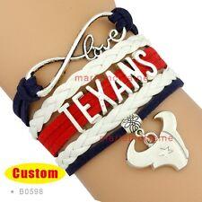 Houston Texans Jewelry Bracelet NFL Football Charm Sports Fans US SELLER
