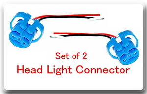 set 2 x Head Light Socket Pigtail Connector Fits: Ford Lincoln Mercury Dodge GM