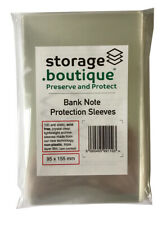 Storage.boutique Old Bank Note Protection Sleeves Acid 100 95x155mm