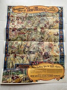 1946 Illustrated Map of New Mexico by Wilfred Stedman