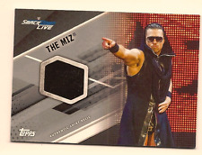 THE MIZ 2017 TOPPS WWE WRESTLING AUTHENTIC WORN SHIRT RELIC SILVER /25