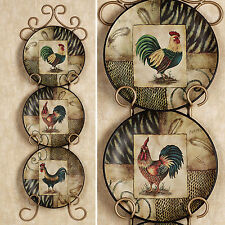Decorative Rooster Plates Set of 3 Roosters Plate Kitchen Dining Room Wall Decor