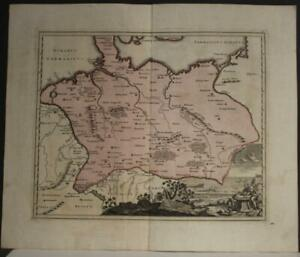 GERMANY & CENTRAL EUROPE 1730 HOMANN HEIRS & WEIGEL ANTIQUE COPPER ENGRAVED MAP