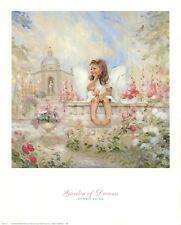 Garden of Dreams by Donald Zolan Art Print Angel Girl Room Decor Poster 24x30