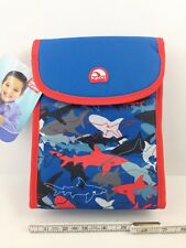 Great White Blue Tiger Shark Sharks Insulated Lunch Bag Boys School w/pocket NWT