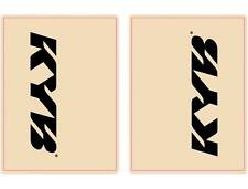 Flu Designs KYB Black Upper Fork Decals Stickers 01015