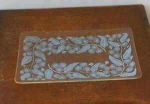Vintage (1960's) Floral Design Glass Tray.