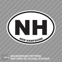 New Hampshire State Oval Sticker Decal Vinyl NH