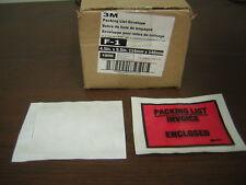 3M Top Print Self Adhesive Packing List Envelope 4 1/2 x 5 1/2 F-1  1000/Box