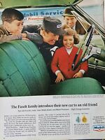 1965 Mobil Faselt Family Mobil Premium Motor Oil High Energy Gasoline Ad