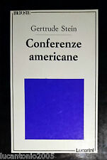GERTRUDE STEIN CONFERENZE AMERICANE LUCARINI 1990 A CURA DI CATERINA RICCIARDI