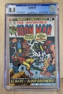 THE INVINCIBLE IRON MAN #55 - CGC 8.5! FIRST THANOS appearance! Key (1973)